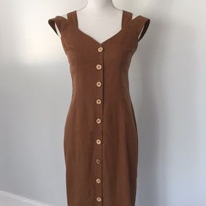 Vintage Shelli Segal Linen Summer Dress Size XS